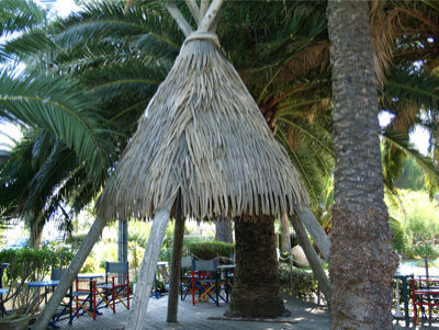 tipi feuille de palmier deco Bormes