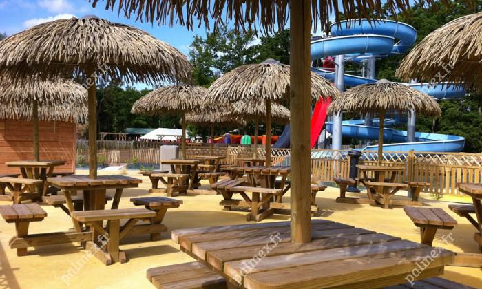 parasol paille Cobac Parc