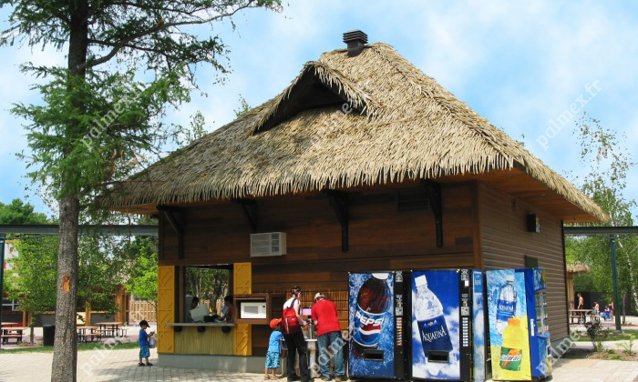toiture paille palmier Zoo Granby