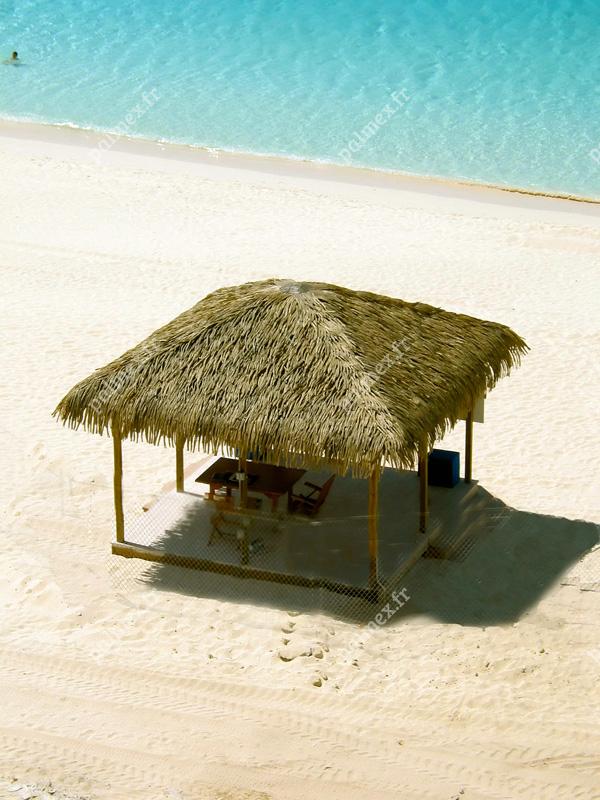 Palmex feuilles de palmier artificielles parasol toit for Prix d une feuille de zinc