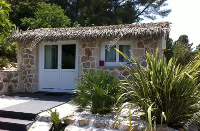 mobil home toit feuilles artificielles FRANCE