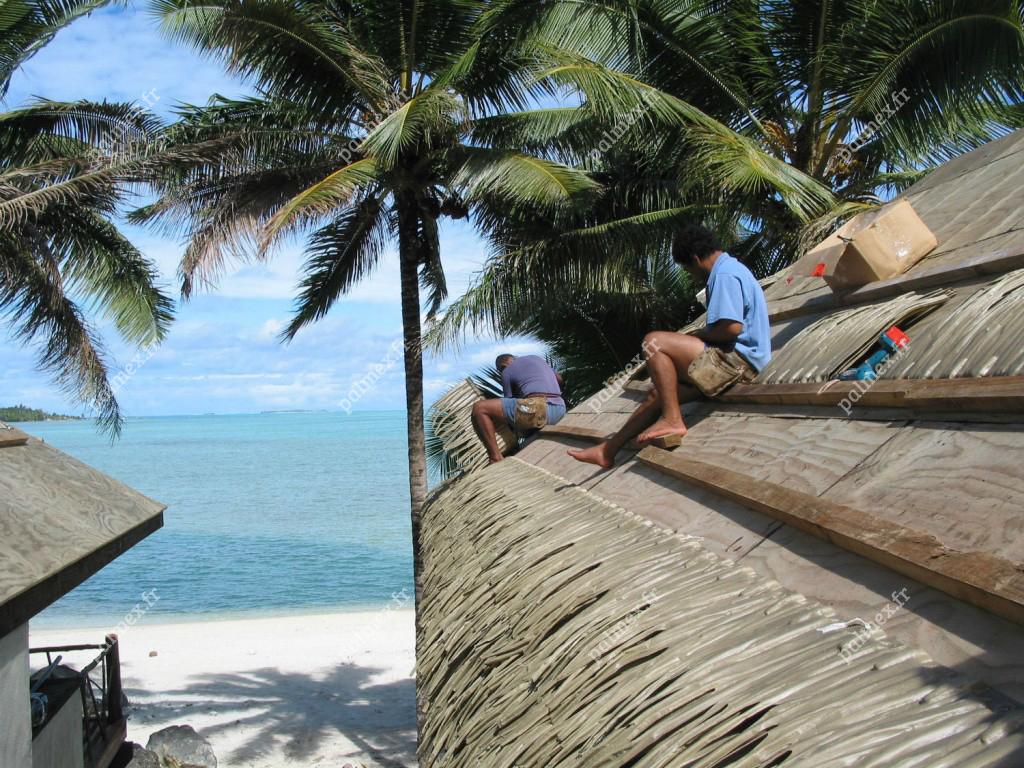 feuilles de palmier synth tiques rio palmex france toiture exotique. Black Bedroom Furniture Sets. Home Design Ideas
