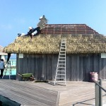 Club Med Kani Overwater bungalow with Exotic roof Palmex